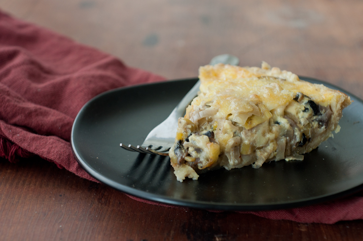 Leek And Mushroom Quiche - Foods of Our Lives