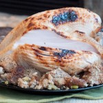 Brined and Roasted Turkey Breast with Classic Sage Stuffing
