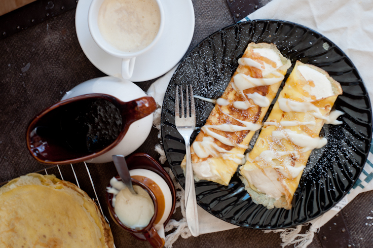 6a88ff16789 Pumpkin Crepes with Maple Butter and Vanilla Sauce - Foods of Our Lives