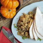 Roasted Turkey with Sage -Cornbread Stuffing