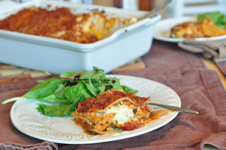 To me, lasagna is the ultimate comfort food. I love a big, warm, gooey ...