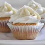 Vanilla Bean Cupcakes with Whipped White Chocolate Vanilla Bean Ganache