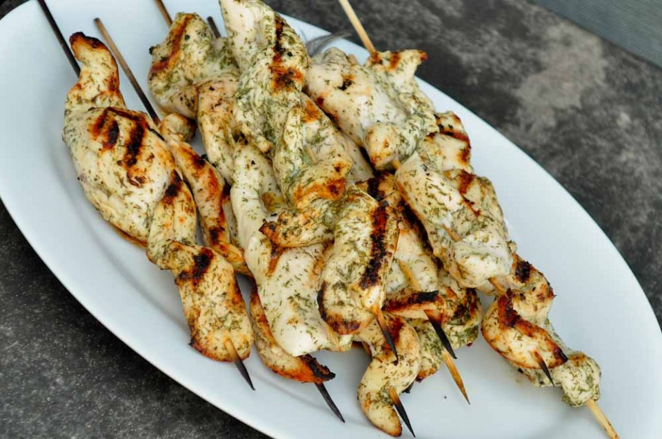 grilled citrus chicken kebabs lemony moroccan style chicken kebabs ...