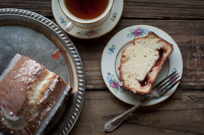 Sour Cream Raspberry Pound Cake