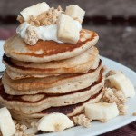 Banana and Granola Pancakes