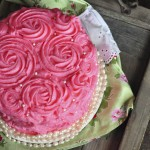 Pink Rose Bouquet Cake