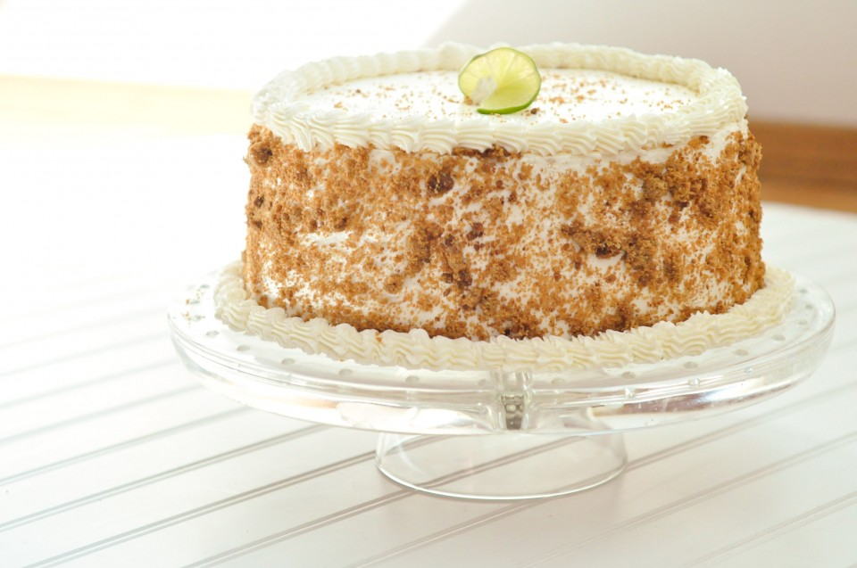 Key Lime Layered Angel Food Cake | Foods of Our Lives