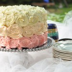 Vanilla Bean Cake with Swiss Merengue Buttercream and Pastry Cream Filling