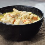 Left-over Turkey Soup with Root Vegetables and Cream