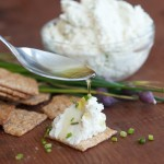 Homemade Roasted Garlic and Chive Chèvre