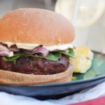 Chèvre Stuffed Hamburgers