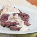 Elk Steak With A Creamy Chanterelle Sauce