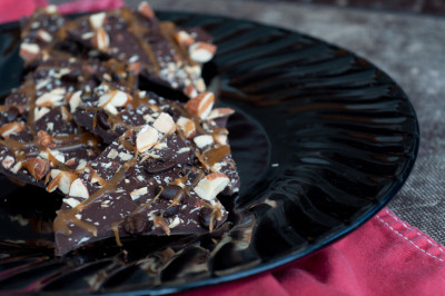 Salted Caramel and Espresso Bean Bark