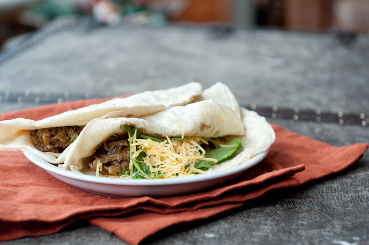 Slow Cooker Goat (or beef) Tacos