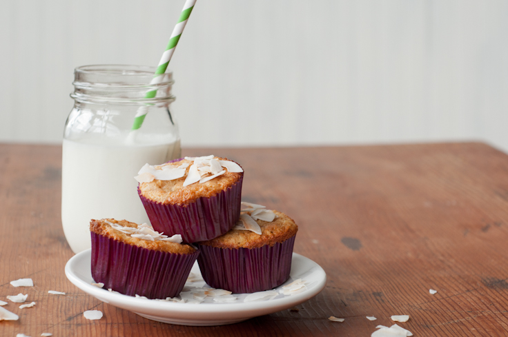 Coconut {Sourdough} Muffins