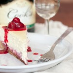 Champagne Raspberry Cheesecake