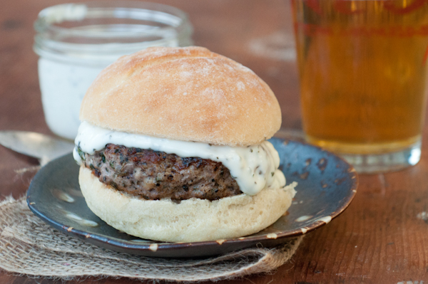 Feta, Basil and Mint Lamb Burgers