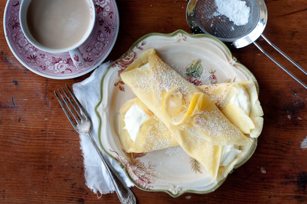 Lemon Cream Cheese Crepes