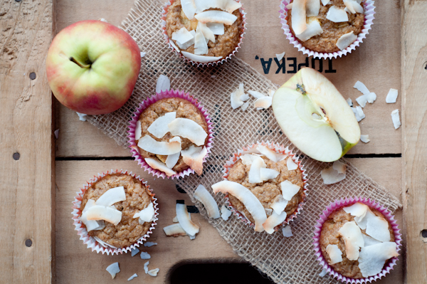 Grain and Sugar Free Coconut Apple Muffins