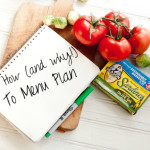 How and Why To Menu Plan (and my menu for the week!)
