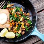 Easy Sautéed Veggies and Salmon