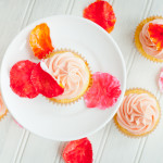 Lemon Rose Scented Cupcakes