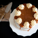 Salted Caramel and Brandy Sweet Potato Cake