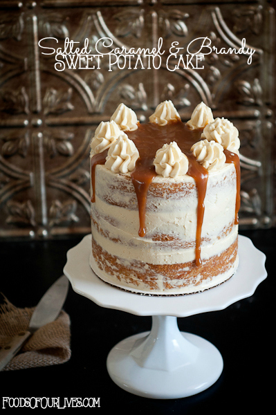Salted Caramel & Brandy Sweet Potato Cake | FoodsOfOurLives.com